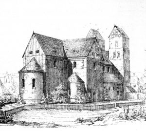 St. Blasii und Marien, Stich von Conrad Wilhelm Hase 1882