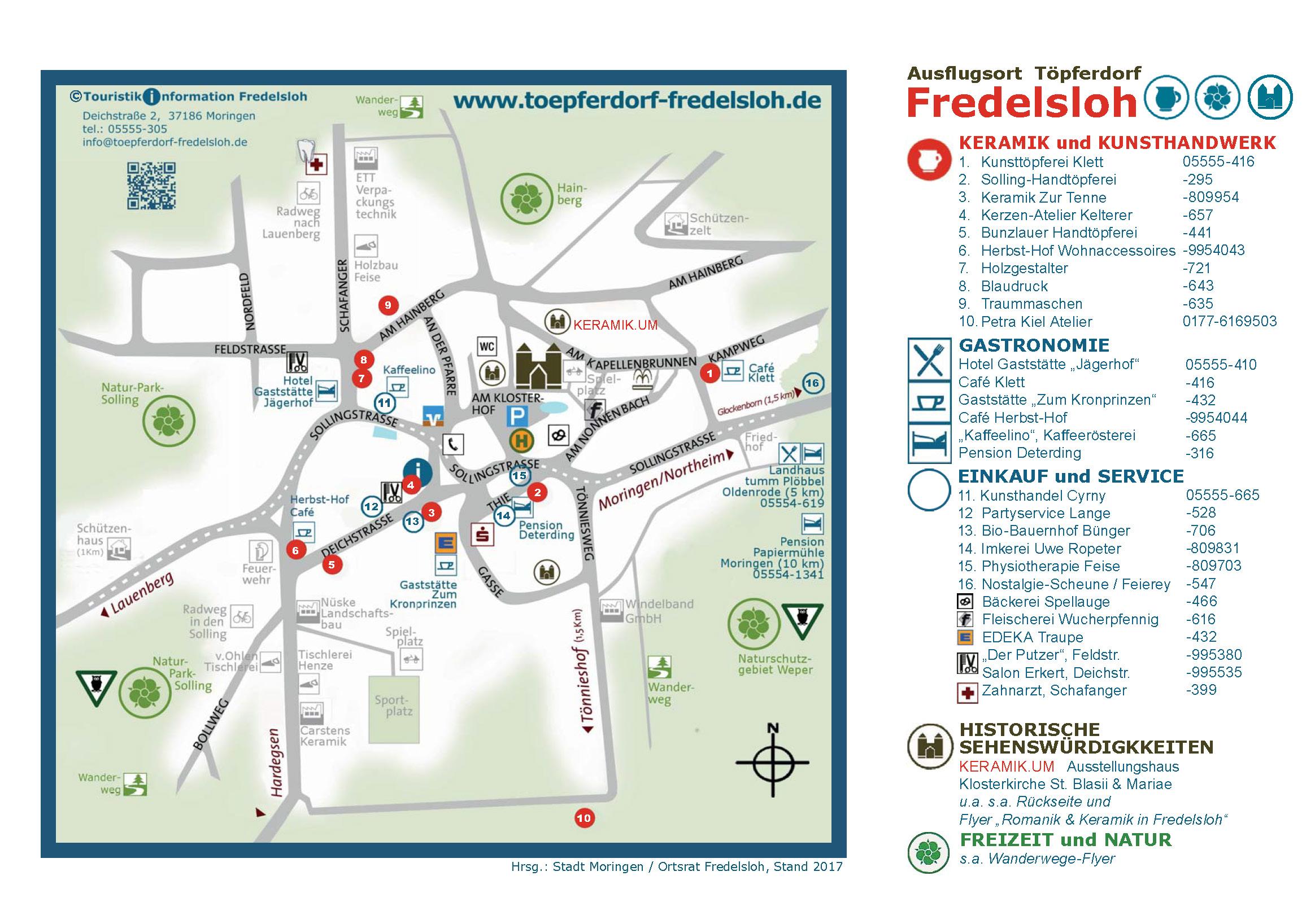 Ortsplan Fredelsloh